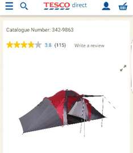 Tesco 6-Man Family Tent (instore @ B'ham High St) £29.50 (RRP £120.00)