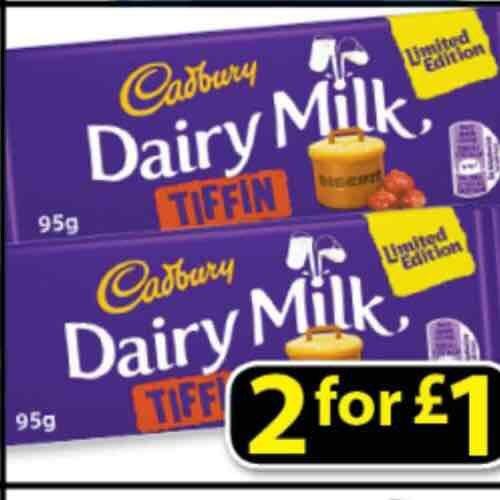 Cadburys Dairy Milk Tiffin, 2for £1 at Farmfoods