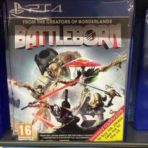 PS4 & Xbox 1 Battleborn Sainsburys Cameron Toll £12.99