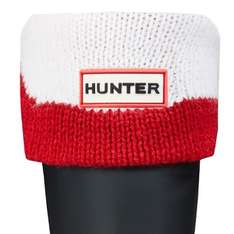 HUNTER KIDS MOUSTACHE BOOT SOCKS - RED / WHITE £7.98 Delivered Was £19.95 @ SkateHut