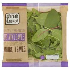 Fresh And Naked Mixed Little Leaves 90G and Wild Rocket 60G: 44p at TESCO