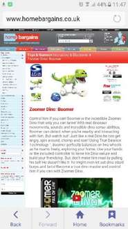 Zoomer Dino: Boomer (green) - £34.99 instore @ Home Bargains (Peterhead)