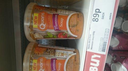 Quorn Vegan Moroccan Soup 89p in Heron's