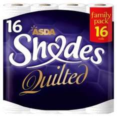 ASDA Shades Quilted 3 ply Toilet Roll (16 Rolls) ONLY £5.00 @ Asda