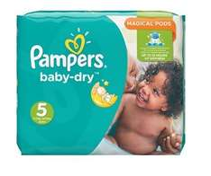 Pampers Baby-Dry Nappies Size 5 (144 pack) for only £5.66 after discount voucher @ Amazon Prime (Many More sizes available)