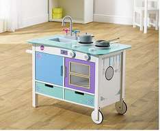 Plum Cook-a-lot Trolley Wooden Kitchen (was £70) Now £35.00 at Tesco Direct