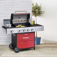 Outback Meteor 4-Burner Gas Barbecue – Red £199.99 @ Robert Dyas