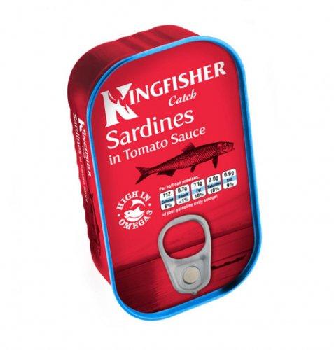 BM Bargains Kingfisher tinned sardines in tomato sauce 29p