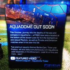 Rocket League October update! FREE AquaDome arena and two new (premium) BattleCars Triton and Proteus!