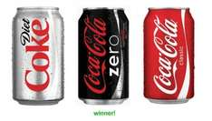 Coca Cola, Diet Cola & Coca Cola Zero (6 x 330ml pack x 2 = 12 cans) now 2 packs for £3.00 so 25p a can) @ Iceland