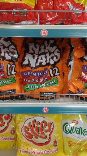 Nik Naks 12 pack £1 in Poundland