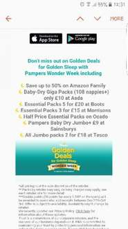 Pampers golden week is now LIVE ends 3rd october