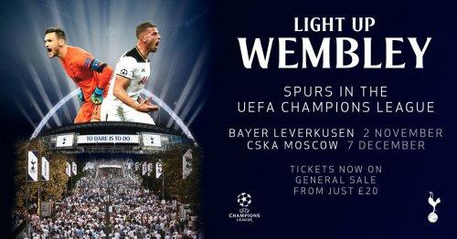 SPURS VS BAYERN LEVERKUSEN/CSKA £20 WEMBLEY CHAMPIONS LEAGUE
