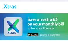 £3 off your monthly bill after downloading Tesco xtra app