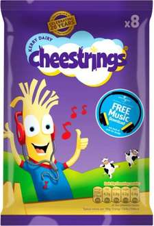 Cheestrings Original or Twisted (8 x 20g) was £2.75 now £1.50 @ Asda