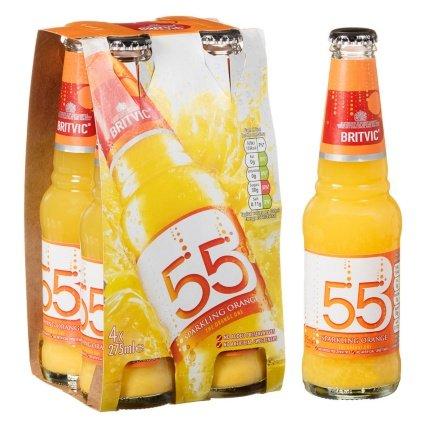 Britvic 55 Sparkling Orange (4 x 275ml) was £1.49 now £1.00 @ B&M
