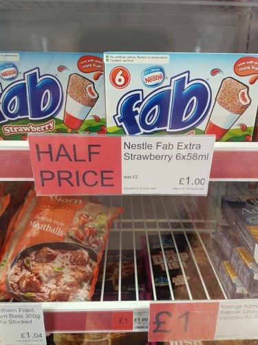 6 Fab £1.00 @ Co-Op