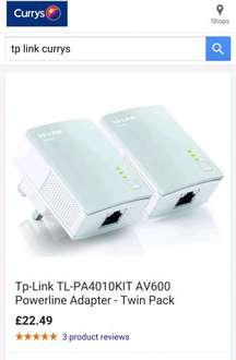 Buy TP-LINK TL-PA4010KIT AV600 Powerline Adapter - Twin Pack | Free Delivery | £22.49 @ Currys