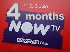 Now TV 4 month Sky Movies Pass for £3.99 instead of £9.99 per month! Now TV (Retention deal)