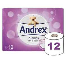 12 rolls Andrex for £1 at Poundshop + £3.75 delivery = £4.75