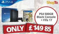 PS4 500gb + FIFA 17 £149.85 (from midnight) at Shopto.net