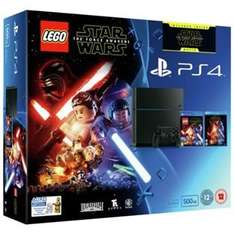 PS4 500GB Console, LEGO Star Wars Game and Star Wars Blu-Ray £149.99 @ ARGOS