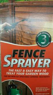 cuprinol fence sprayer £10 TESCO