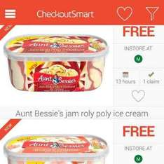 free aunt Bessie's ice cream 900ml  from Morrisons via checkout smart