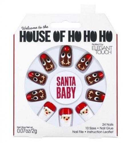 House of Holland Xmas Santa Baby nails 3 sets for £4.49 @ Boots - Free c&c