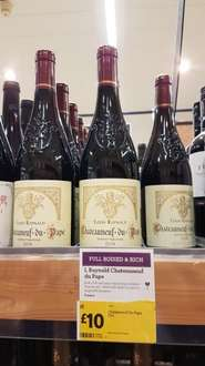 Chateauneuf Du Pape usually £15 per bottle now £10 per bottle at Morrisons.