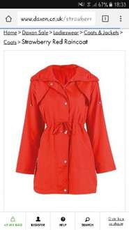 Strawberry red raincoat daxon.co.uk £2 + free delivery with code @ Daxon