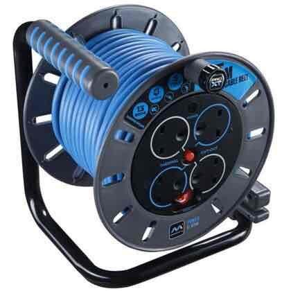 Masterplug ProXT 25 Metre 4 Socket Cable Reel - Homebase - £28.49
