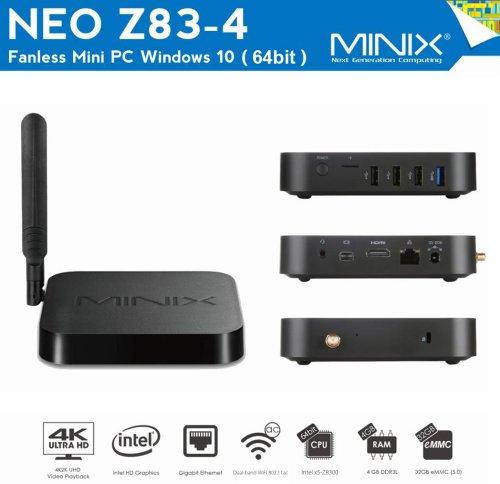MINIX NEO Z83-4 W10 Z8300 4Gb RAM 32Gb EMMC 5, Dual-band WiFi AC, BT 4.2, Gigabit Ethernet - £123.28 @ Gearbest