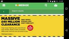 Homebase Reducing All Homeware..Big Savings In Store.