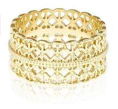 Accessorize Gold Plated Filigree Band Ring - 50p - Free C&C at House of Fraser