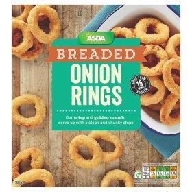 Asda breaded onion rings 750g - 38p