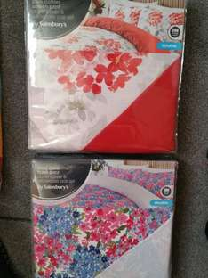 Flower double duvet covers starting price £6 at sainsbury charlton
