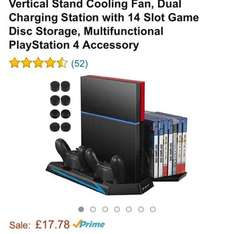 vertical stand cooling fan, charging station, game disc storage, different style of buttons £17.78 Prime / £22.53 Non Prime @ Amazon