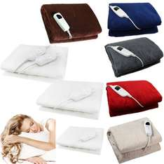 GLOWMASTER LUXURY FLEECE HEATED ELECTRIC THROW £34.99 delivered e bay / toyplanet-today