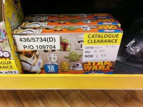 10 Star Wars Wikkeez 3.99 argos