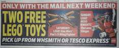 """Free"" Lego Toys Daily Mail, Mail On Sunday 8th/9th, 15th/16th, 22nd Oct at WHSmith and Tesco Express"