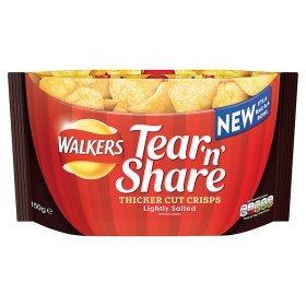 Walkers Tear 'n' Share Lightly Salted Crisps 150g scanning for 20p @ ASDA
