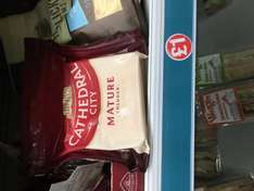 200g cathedral city mature chedder (block - not grated)) £1.00 at poundland