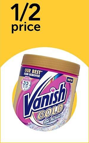 Half Price Vanish products @ wilko