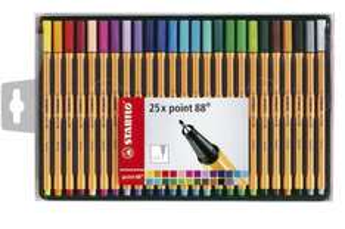 Stabilo point 88 Fineliner 25 pk @ Tesco Direct £7 c&c