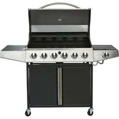 Iowa 6 Burner Gas BBQ and side warming rack £99.93 inside only at Homebase.