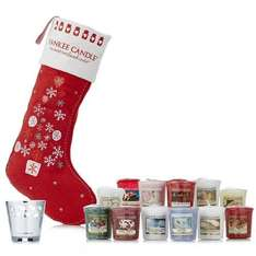 Yankee Candle  Red Stocking  12 Samplers Plus Holder @ Candles Direct for £19.99 + £2.95 delivery