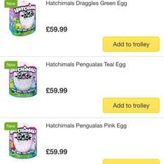 Hatchimals showing in stock at Ocado plus £20 off a £80 spend for new customers