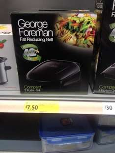 George Foreman 2 portion grill £7.50 in store morrisons reduced from £12