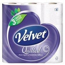 Velvet Quilted 9 Toilet Rolls £3 at Wilko